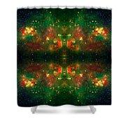 Cosmic Kaleidoscope 3 Shower Curtain by The  Vault - Jennifer Rondinelli Reilly