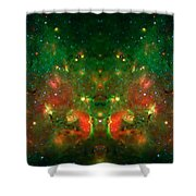 Cosmic Reflection 1 Shower Curtain by The  Vault - Jennifer Rondinelli Reilly