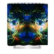 Cosmic Reflection 2 Shower Curtain by The  Vault - Jennifer Rondinelli Reilly
