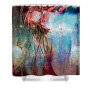 Cosmic String Shower Curtain by Linda Sannuti