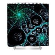 Cosmic Web Shower Curtain by Anastasiya Malakhova