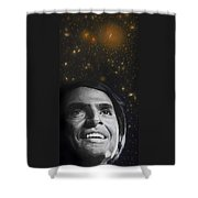 Cosmos- Carl Sagan Shower Curtain by Simon Kregar