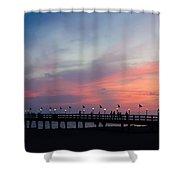 Costa Rican Sunset Shower Curtain by Adam Romanowicz