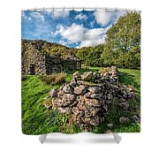 Cottage Ruin Shower Curtain by Adrian Evans