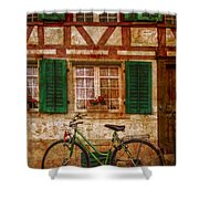 Country Charm Shower Curtain by Debra and Dave Vanderlaan