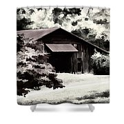 Country Charm In Dramatci Bw Shower Curtain by Darren Fisher
