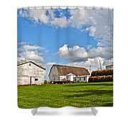 Country Farm Shower Curtain by Frozen in Time Fine Art Photography