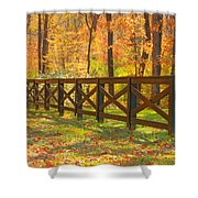 Country Fence Shower Curtain by Geraldine DeBoer