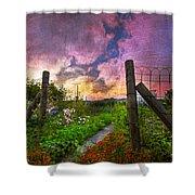 Country Garden Shower Curtain by Debra and Dave Vanderlaan