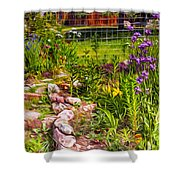 Country Garden Shower Curtain by Omaste Witkowski