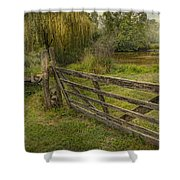 Country - Gate - Rural simplicity  Shower Curtain by Mike Savad