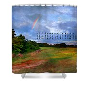 Country Rainbow Shower Curtain by Darren Fisher