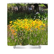 Countryside Cottage Garden 5D24560 Shower Curtain by Wingsdomain Art and Photography
