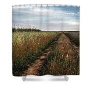 Countryside tracks Shower Curtain by Carlos Caetano