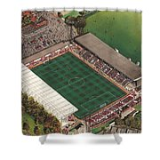 County Ground - Swindon Town Shower Curtain by Kevin Fletcher