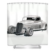 Couparossa Shower Curtain by Rick Bennett