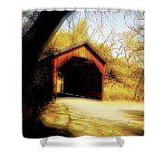 Covered Bridge 2 Shower Curtain by Cheryl Young