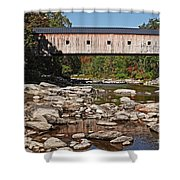 Covered Bridge Vermont Shower Curtain by Edward Fielding