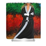 Cowgirl Shower Curtain by Lance Headlee