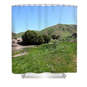 Cows Along The Rolling Landscapes of The Black Diamond Mines in Antioch California 5D22291 Shower Curtain by Wingsdomain Art and Photography