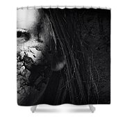 Cracked Face Shower Curtain by Erik Brede