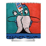 Cracked Tooth Shower Curtain by Anthony Falbo