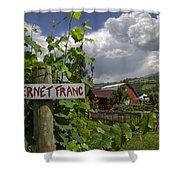 Crane Creek Vineyard Shower Curtain by Debra and Dave Vanderlaan