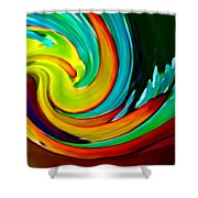 Crashing Wave Shower Curtain by Amy Vangsgard