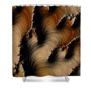 Crevasses  Shower Curtain by Heidi Smith