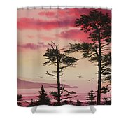 Crimson Sunset Splendor Shower Curtain by James Williamson