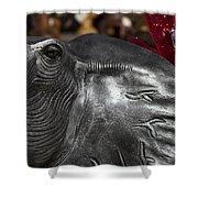 Crimson Tide For Christmas Shower Curtain by Kathy Clark