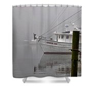 Crimson Tide In The Mist Shower Curtain by Michael Thomas