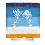 Crocus Flower Shower Curtain by Aged Pixel