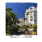 Croisette Promenade In Cannes Shower Curtain by Elena Elisseeva