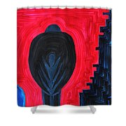 Crow original painting Shower Curtain by Sol Luckman