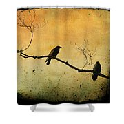 Crowded Branch Shower Curtain by Gothicolors Donna Snyder