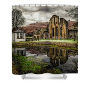 Crucis Abbey Shower Curtain by Adrian Evans