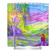 Crystal Pond Shower Curtain by Jane Small