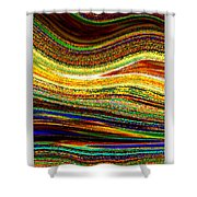 Crystal Waves Abstract 1 Shower Curtain by Carol Groenen