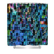 Cubed 3 Shower Curtain by Jack Zulli