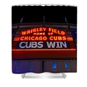 Cubs Win Shower Curtain by Steve Gadomski