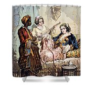 Cup Of Coffee, 1858 Shower Curtain by Amadeo Preziosi