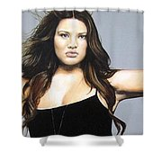 Curvy Beauties - Tara Lynn Shower Curtain by Malinda  Prudhomme