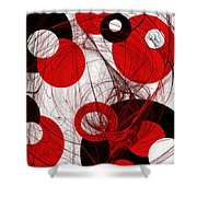 Cyclone Circle Abstract Shower Curtain by Andee Design