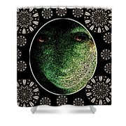 Daemon Of Stargate Shower Curtain by Pepita Selles