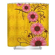 Daisies Design - S01y Shower Curtain by Variance Collections