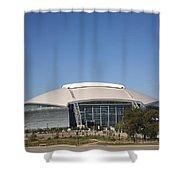 Dallas Cowboys Stadium Shower Curtain by Frank Romeo
