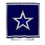 Dallas Cowboys Shower Curtain by Tony Rubino