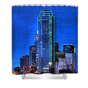 Dallas Skyline Hd Shower Curtain by Jonathan Davison