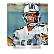 Dan Marino Shower Curtain by Florian Rodarte